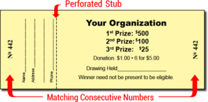 custom raffle ticket 300x147 - What is a Chinese Auction?